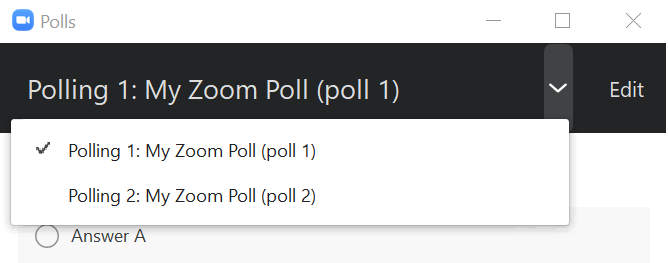 Bytte poll