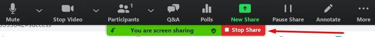 stop sharing