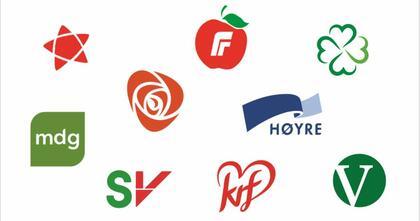Norske partiers logoer